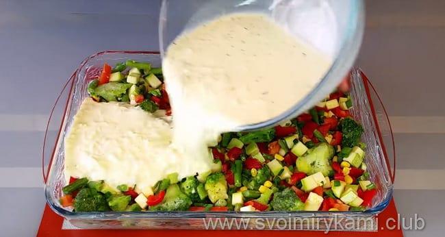 учимся готовить вкусный омлет с овощами в духовке