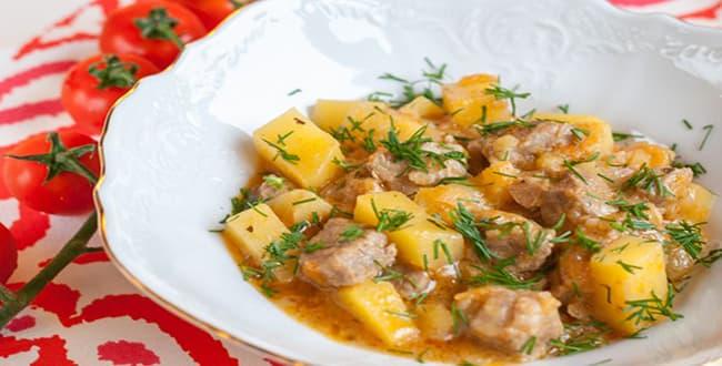 Пошаговые рецепты приготовления тушеной картошки с мясом