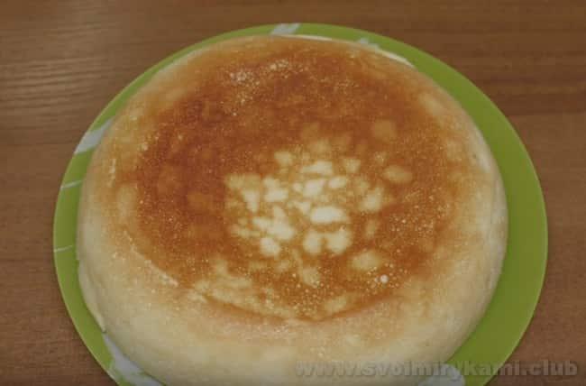 По такому же рецепту можно приготовить вкусный пудинг из творога в мультиварке.