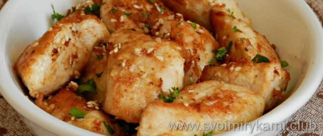 Жареное филе индейки на сковороде готовим по рецепту и обжариваем до румяной корочки