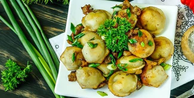 Пошаговый рецепт приготовления жареных пельменей