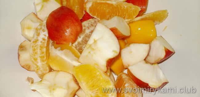 Запеченое филе индейки в духовке готовим по рецепту и режем яблоки с апельсинами