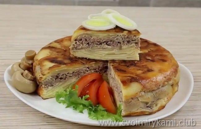 Готовим в мультиварке картофельную запеканку с мясом