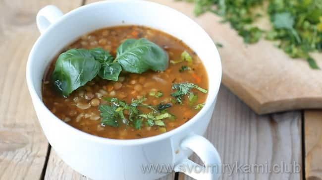 Вот такой у меня получился турецкий суп с чечевицей и булгуром