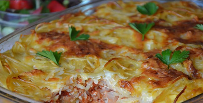Пошаговый рецепт запеканки из макарон с фаршем в духовке
