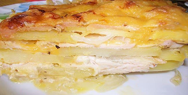 Пошаговый рецепт приготовления запеканки с курицей