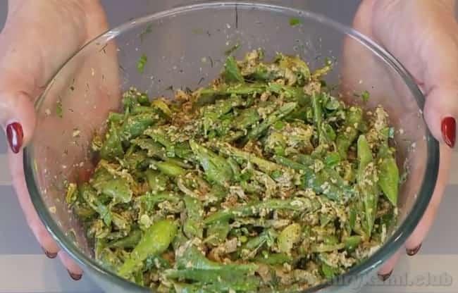 Наше вкуснейшее лобио из зеленой стручковой фасоли по-грузински готово!