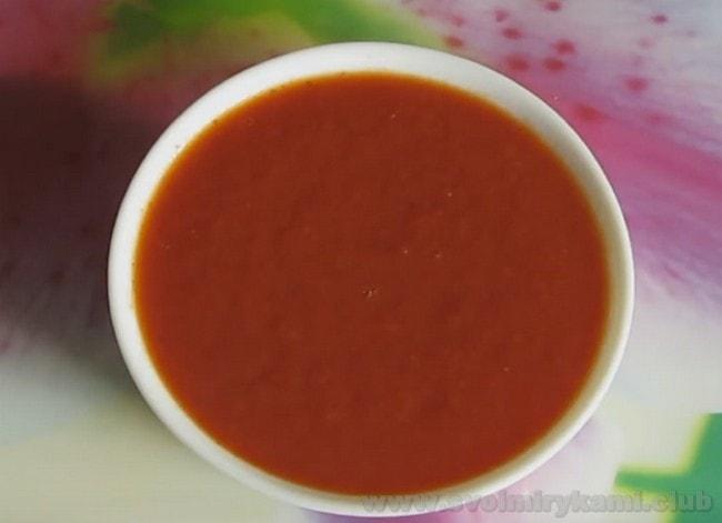 Томатный соус для шаурмы готов!