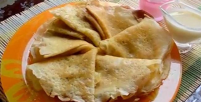 Рецепт приготовления блинов со сгущенкой с фото