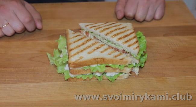 Вот такой судный рецепт сэндвича с курицей.