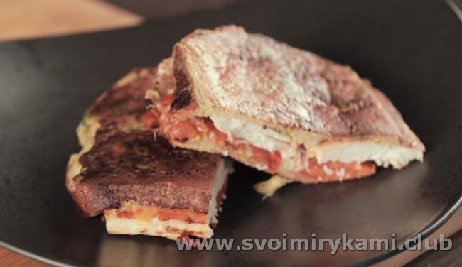 Сэндвичи получаются ароматными и горячими.