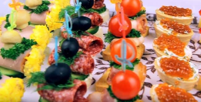 Рецепты разнообразных канапе на праздничный стол