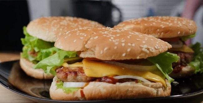 Рецепт приготовления вкусного бургера с фото