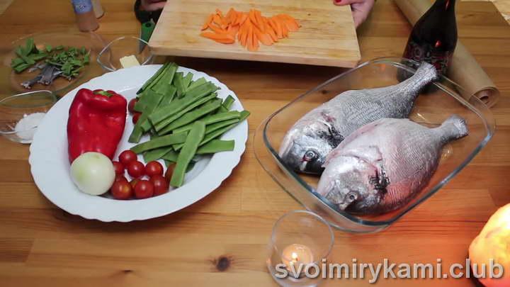 дорадо в духовке рецепт с морковкой