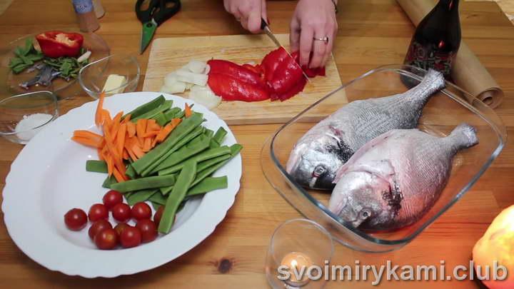 дорадо в духовке рецепт с овощами