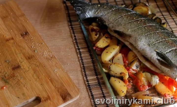 форель с картошкой как готовить быстро
