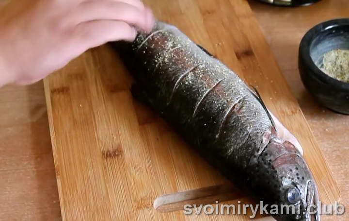 форель с картошкой в духовке как вкусно приготовить