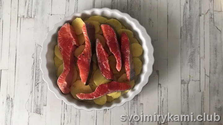 горбуша с картошкой в духовке простые рецепты с фото