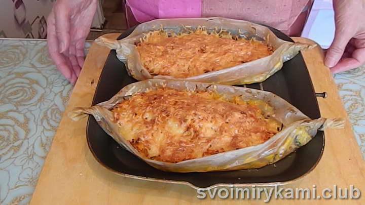 горбуша с помидорами и сыром в духовке видео