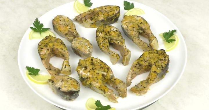Горбуша под цитрусовыс соусом — рецепт запекания в духовке
