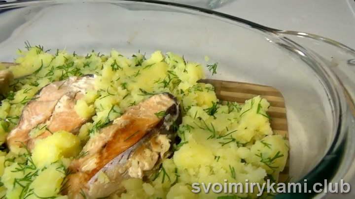 горбуша в духовке с картошкой в фольге как готовить