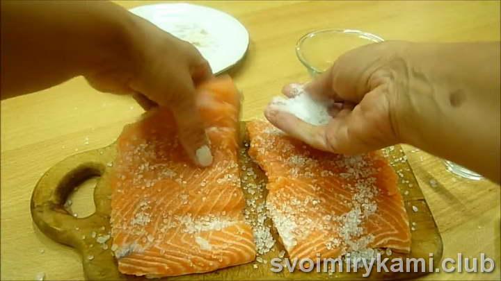 как засолить лосось рецепт с фото