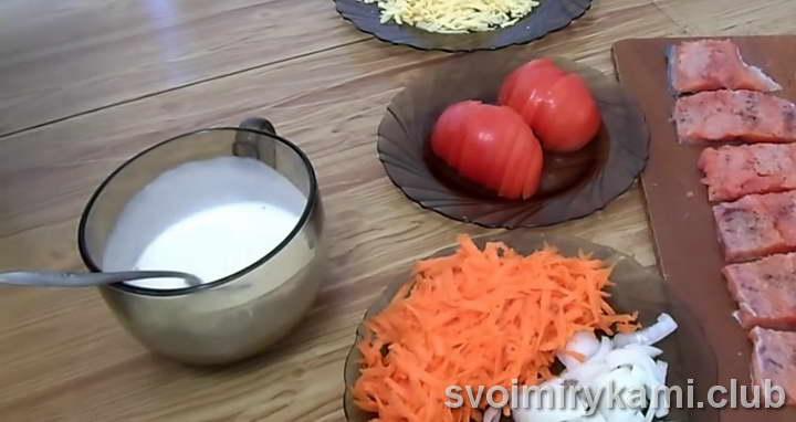красная рыба в духовке под сметанным соусом