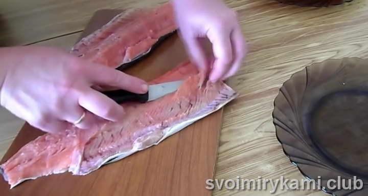 красная рыба в духовке рецепт