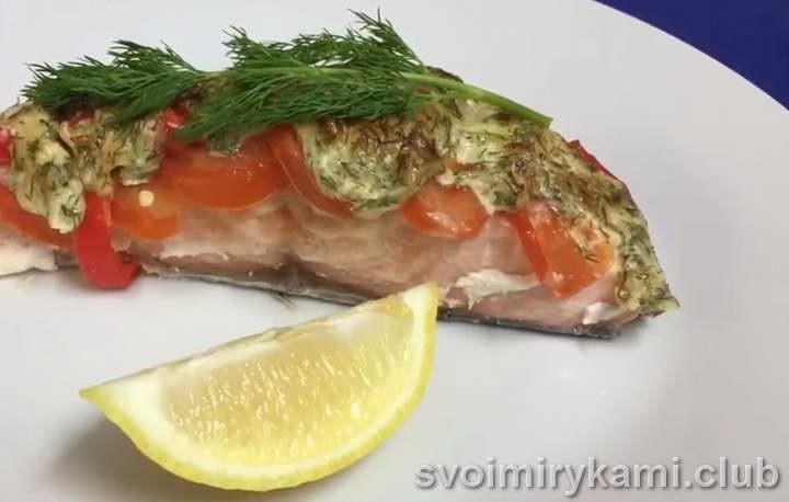 красная рыба в духовке видео
