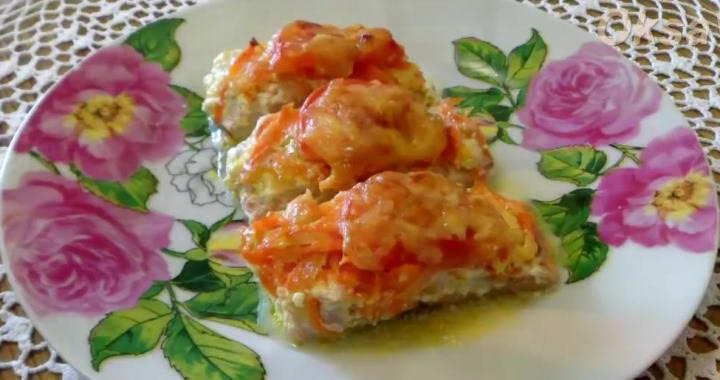 Вкусная красная рыба, запеченная под сыром в духовке