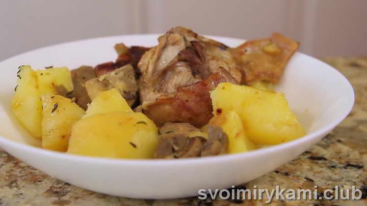 кролик тушеный с картошкой видео