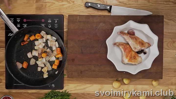 кролик в сливочном соусе с чесноком