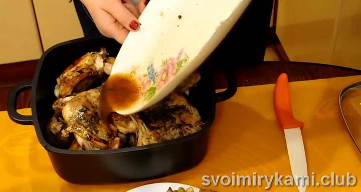 кролик в сметане в духовке пошаговый рецепт