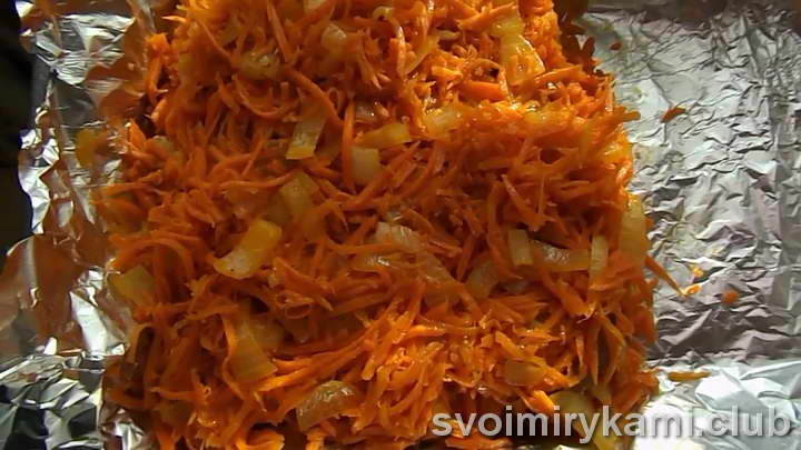 минтай в духовке с морковью и луком легкий рецепт с фото