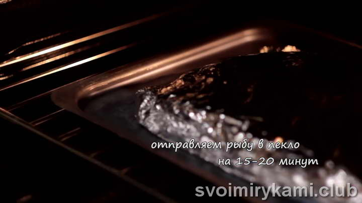 минтай в фольге в духовке простой рецепт