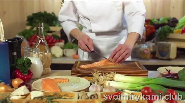 паста с семгой в сливочном соусе