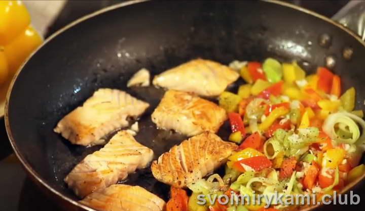 паста с семгой в сливочном соусе как приготовить