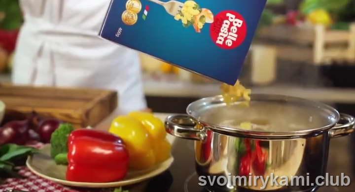 паста с семгой в сливочном соусе фото