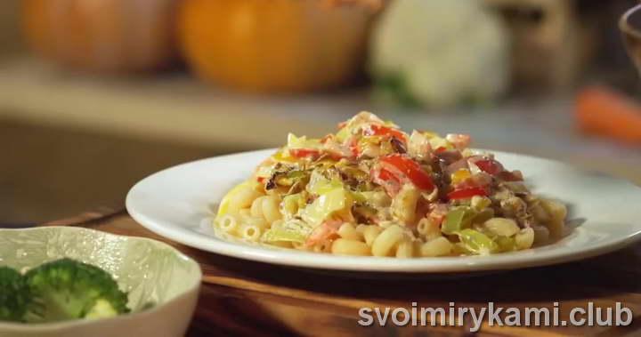 паста с семгой в сливочном соусе очень вкусный рецепт