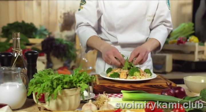 паста с семгой в сливочном соусе видео