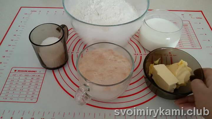 пышные булочки за 15 минут