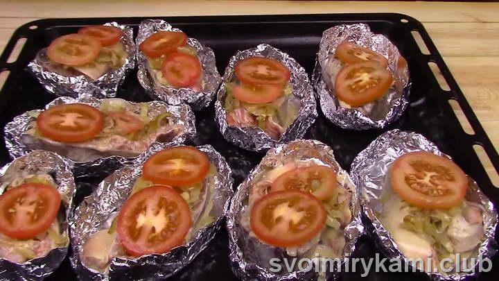 рецепт горбуши запеченной в духовке в фольге с овощами