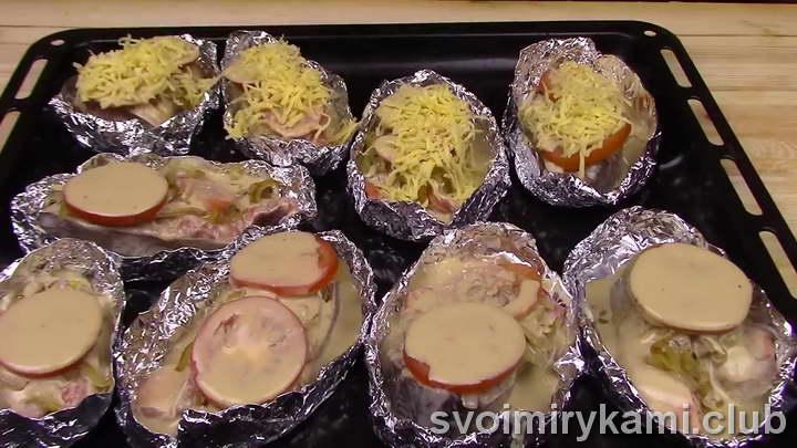 рецепт горбуши запеченной в духовке в фольге с соусом
