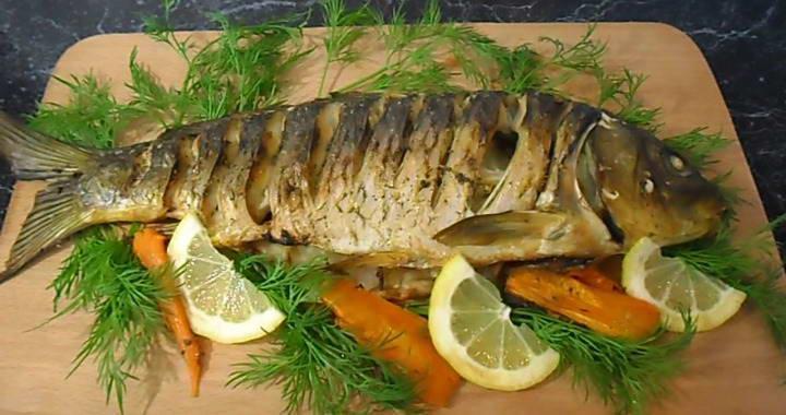 Рецепт приготовления вкусного карпа в духовке