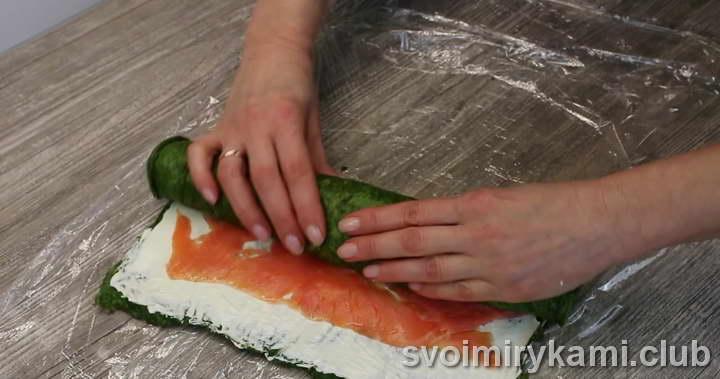 рулет с красной рыбой как приготовить
