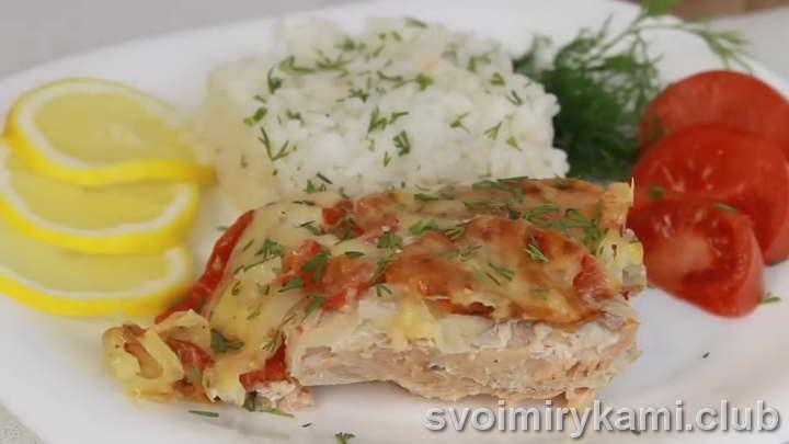 рыба под шубой в духовке видео