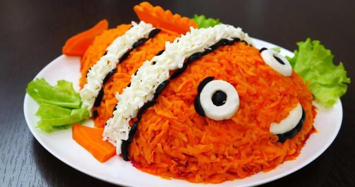 Вкусный салат с рыбой «селедка под шубой» — очень оригинальное овормление