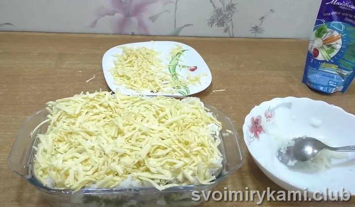 рыба с рисом в духовке с сыром