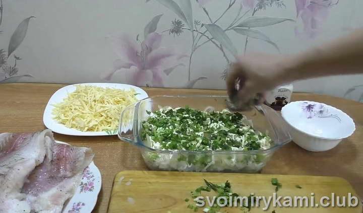 рыба с рисом в духовке как готовить