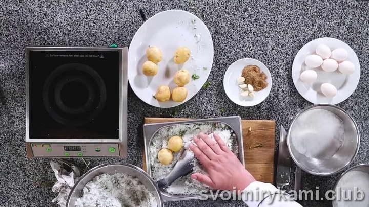 рыба в соли в духовке быстрый рецепт с фото